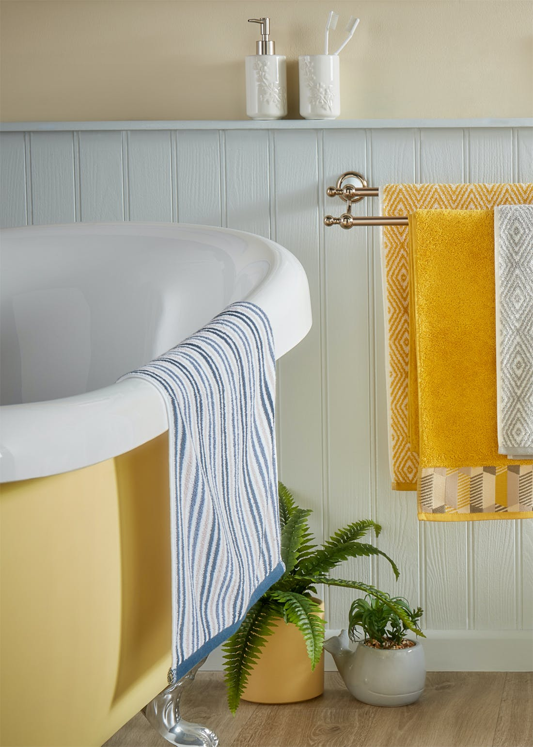 100% Cotton Stripe Towels