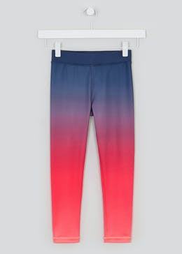 Girls Souluxe Pink Ombre Sports Leggings (4-13yrs)