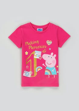 Kids Peppa Pig First Birthday T-Shirt (One Size)
