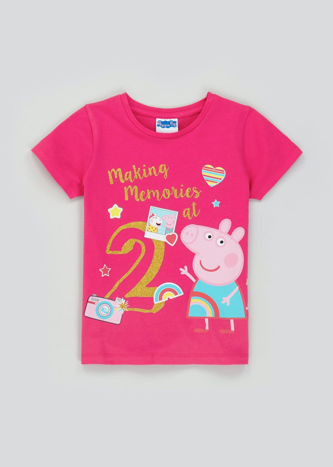 Kids Peppa Pig Second Birthday T-Shirt (One Size)