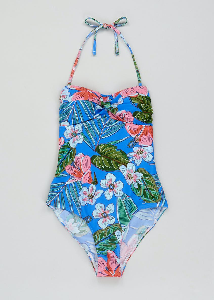 Floral Palm Print Swimsuit