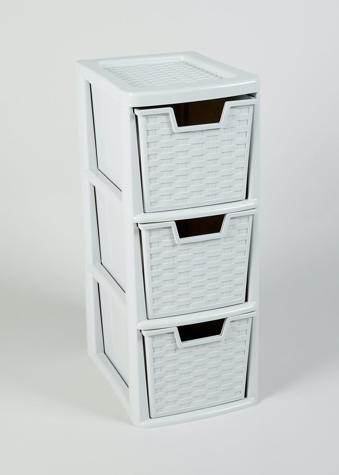 3 Drawer Rattan Storage Tower (48cm x 20cm x 26cm)