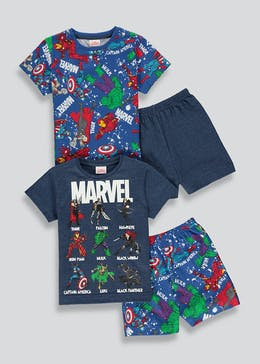Kids 2 Pack Marvel Short Pyjamas (2-9yrs)