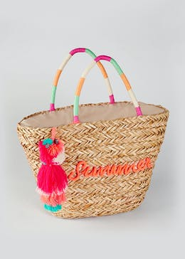 Summer Slogan Basket Bag