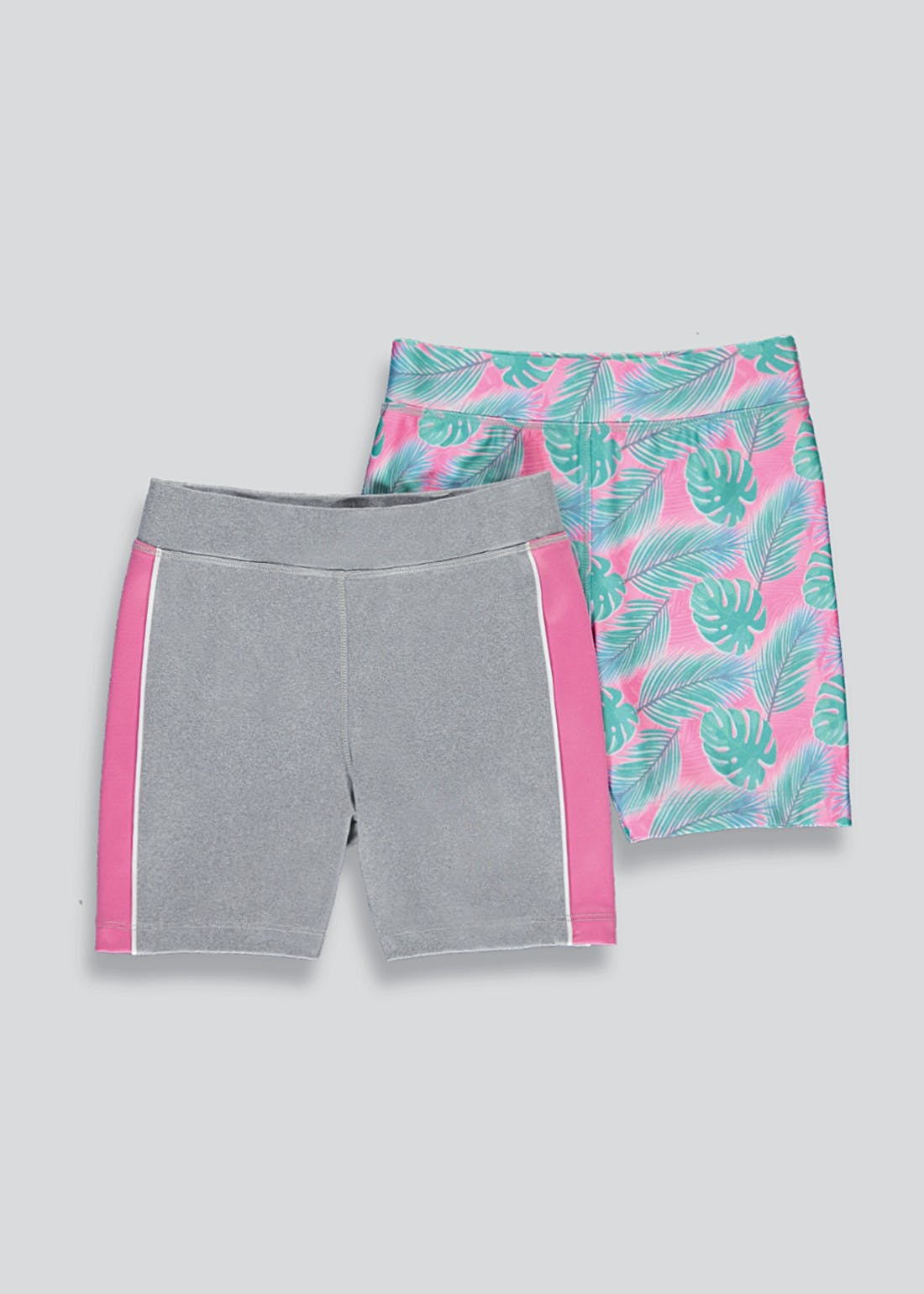 Girls Souluxe 2 Pack Leaf Print Cycling Shorts (4-13yrs)