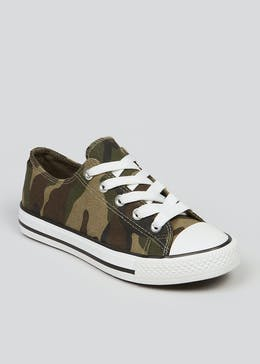Boys Camo Trainers (Younger 10-Older 6)