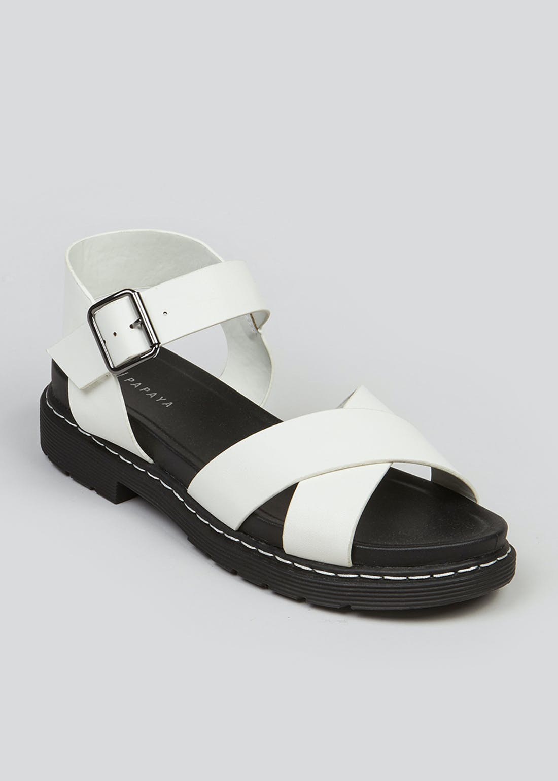White Chunky Sole Sandals