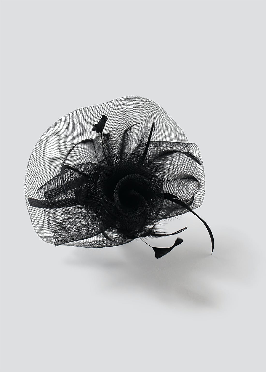 Net Feather Fascinator Headband