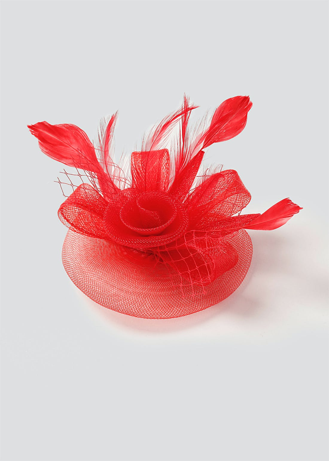 Red Rose Fascinator Clip