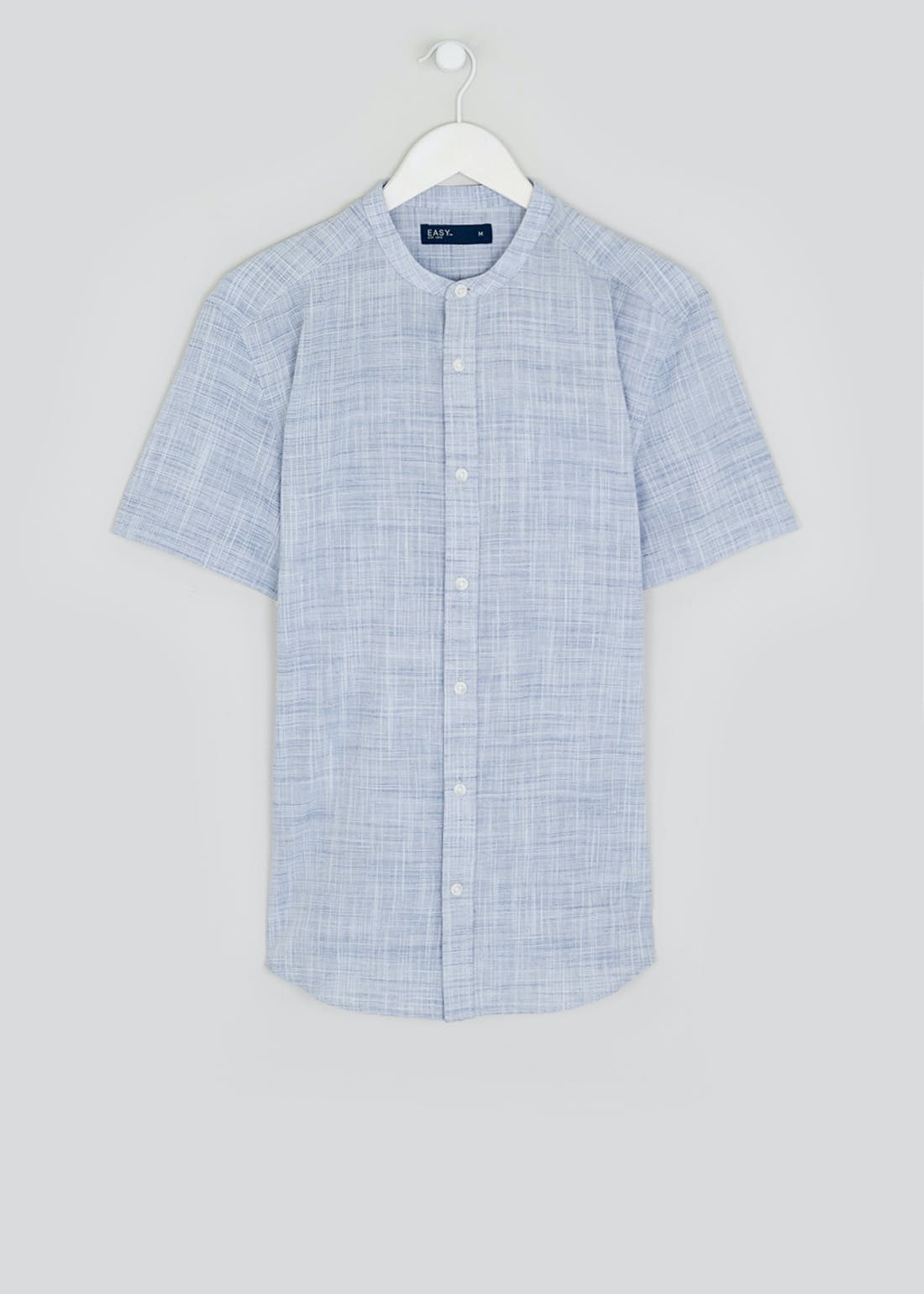 Short Sleeve Grandad Collar Shirt