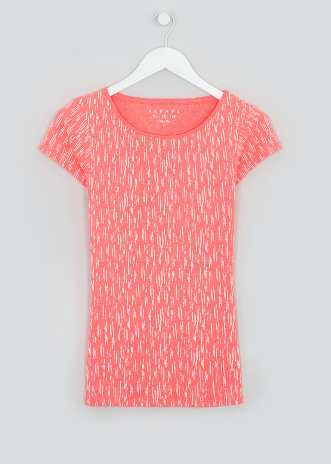 Perfect Short Sleeve Dash Print T-Shirt