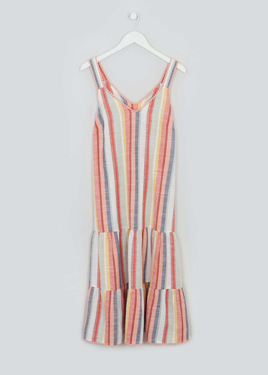 Falmer Tiered Stripe Midi Dress