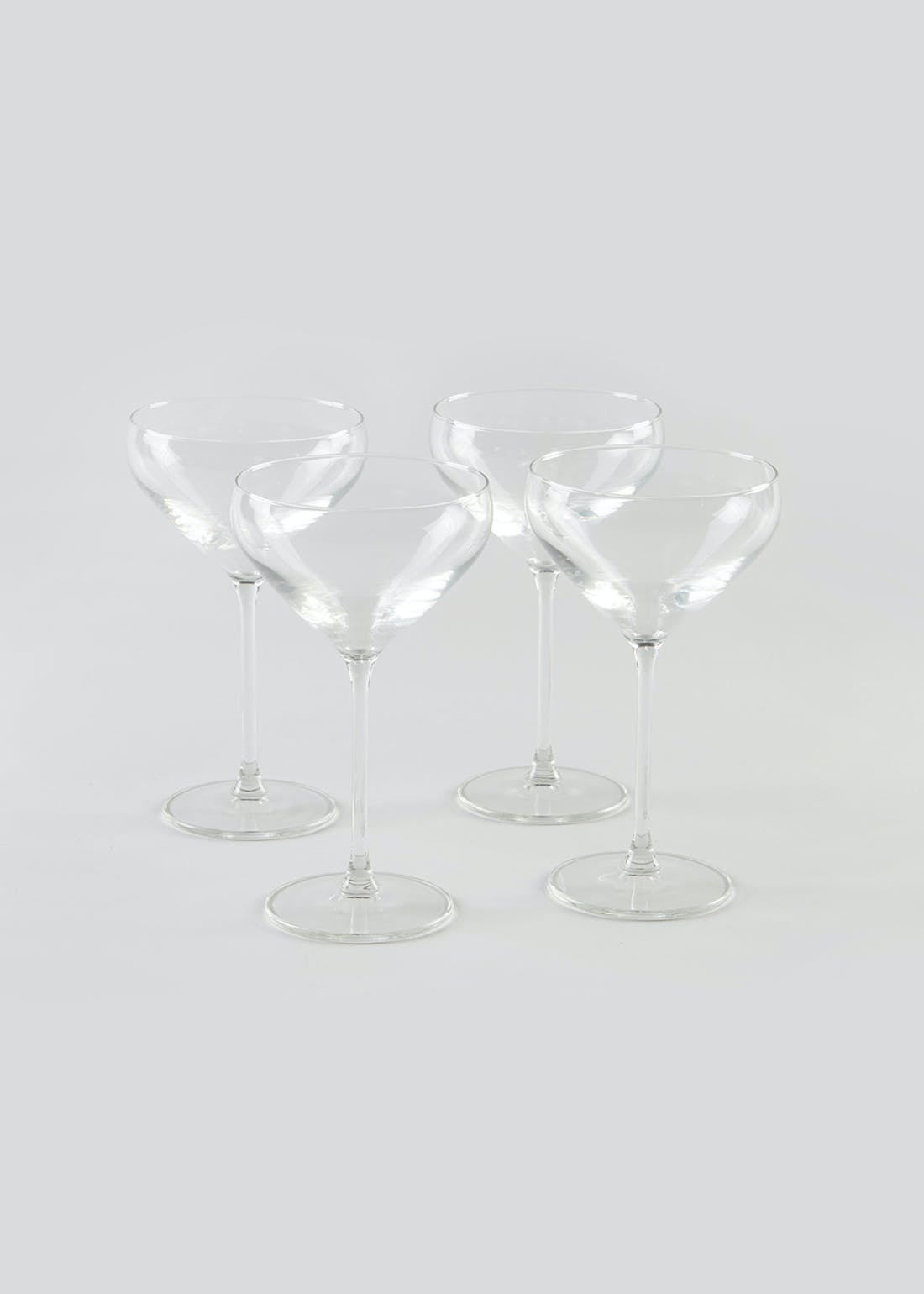 4 Pack Angular Coupe Glasses (17cm x 9.5cm)