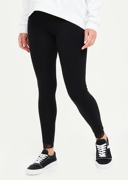 Lace Hem Leggings
