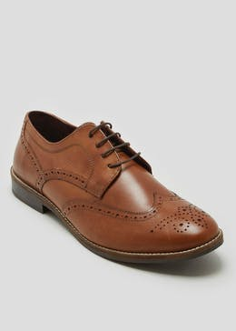 Taylor & Wright Tan Real Leather Gibson Brogues