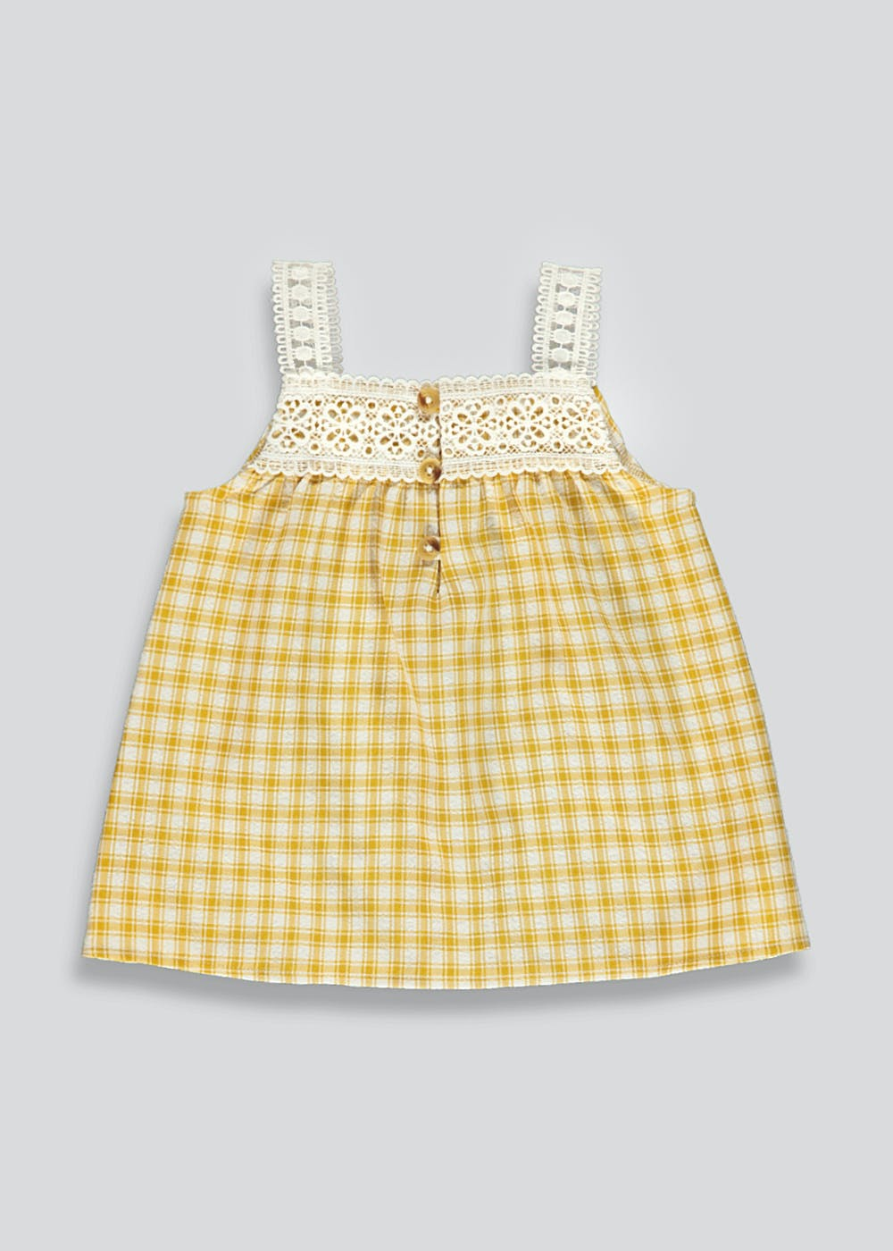 Yellow gingham top