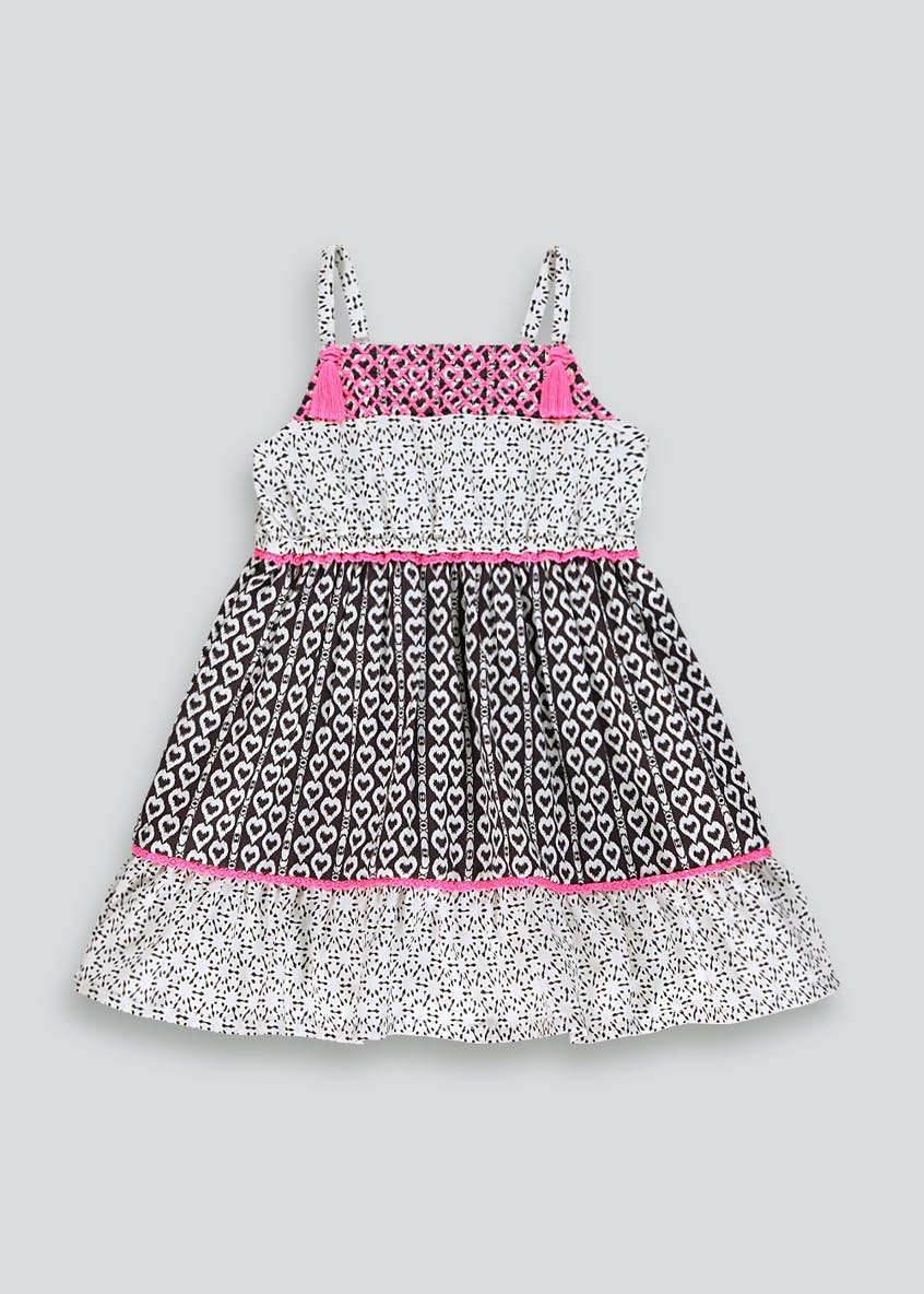 Girls Heart Print Maxi Dress (9mths-6yrs)