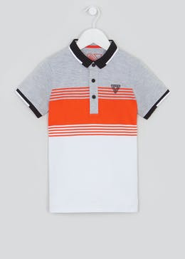 Boys Short Sleeve Stripe Polo Shirt (4-13yrs)