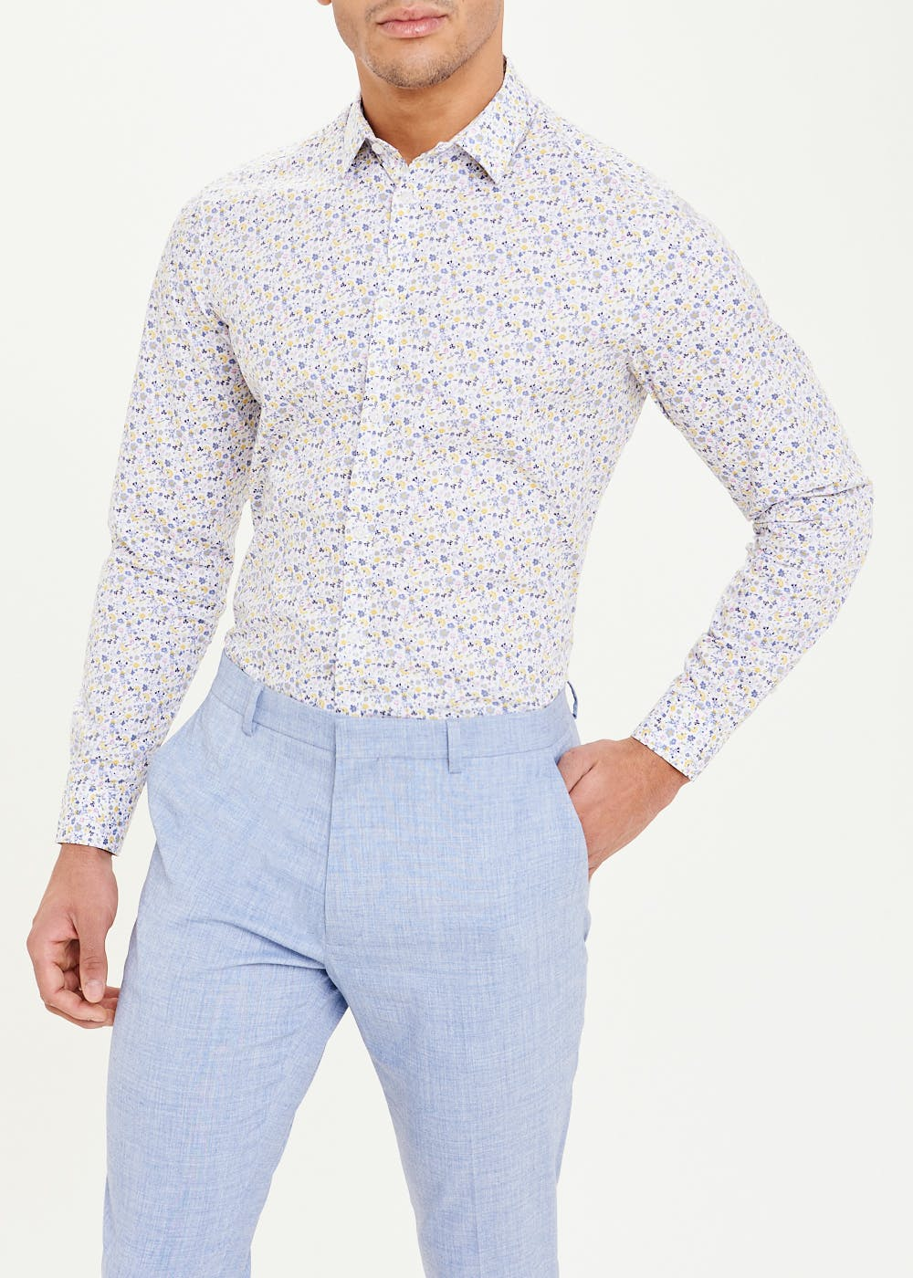 Taylor & Wright Long Sleeve Slim Fit Floral Shirt – Multi
