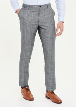 Taylor & Wright Glover Slim Fit Check Suit Trousers
