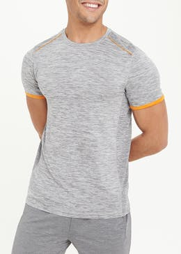 Souluxe Grey Tipped Gym T-Shirt