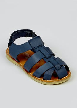 Boys Navy Caged Sandals (Younger 4-12)