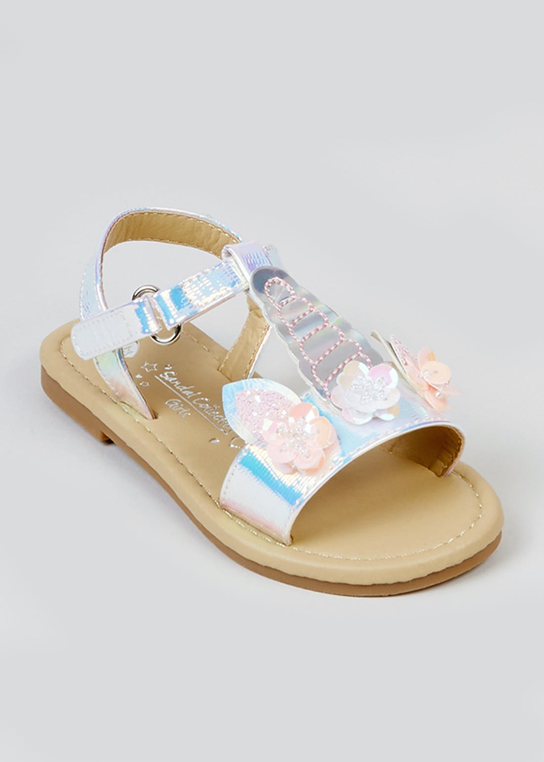 Girls Pink Unicorn Sandals (Younger 4-12)