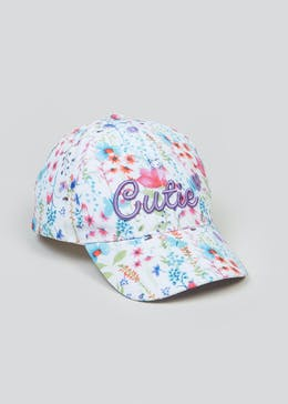 Girls Cutie Slogan Cap (3-6yrs)