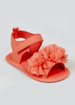 Girls Coral Soft Sole Sandals (Newborn-18mths)