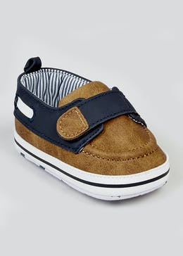Boys Tan Soft Sole Boat Shoes (Newborn-18mths)