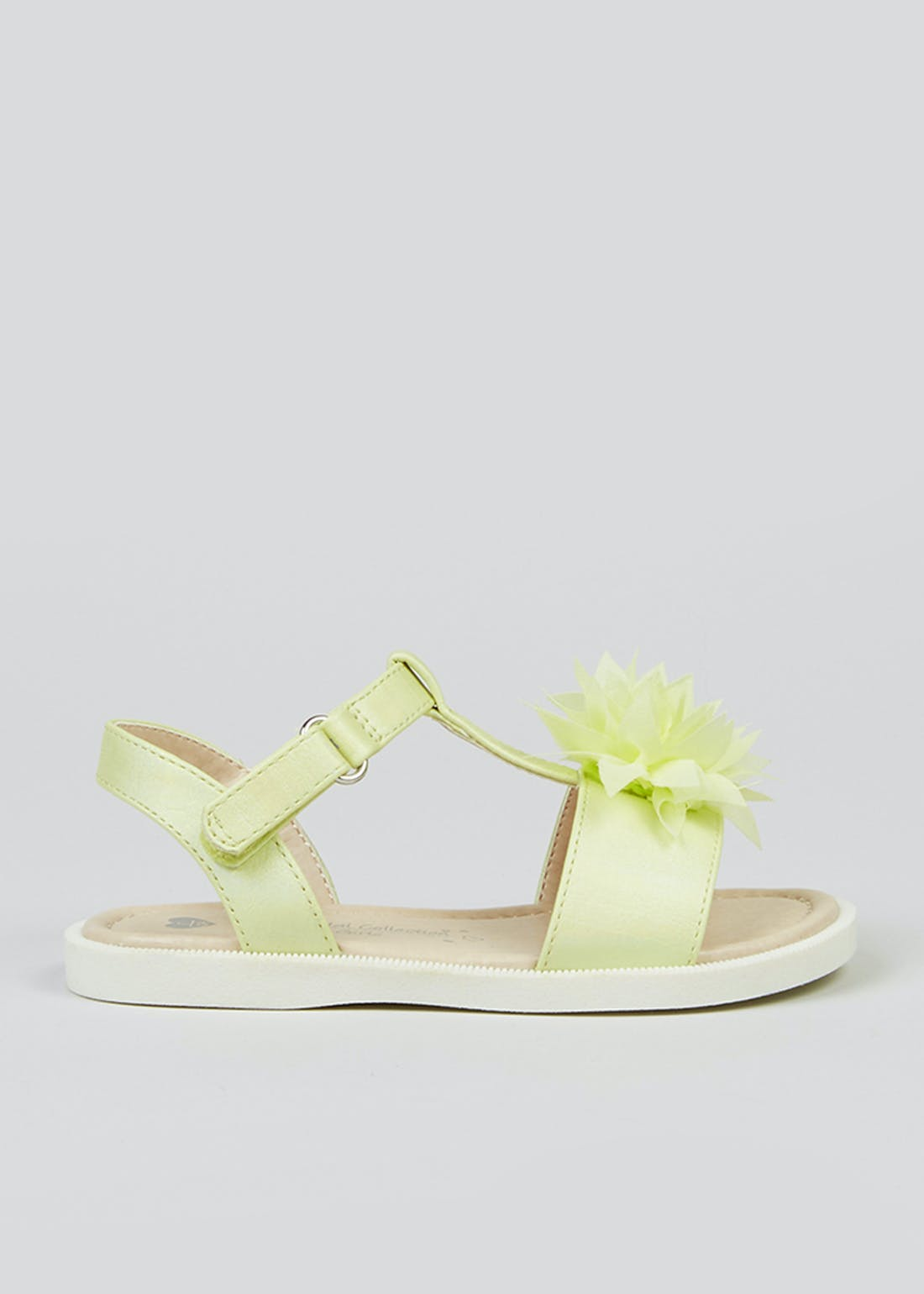 Girls Yellow Flower Sandals (Younger 4-12)