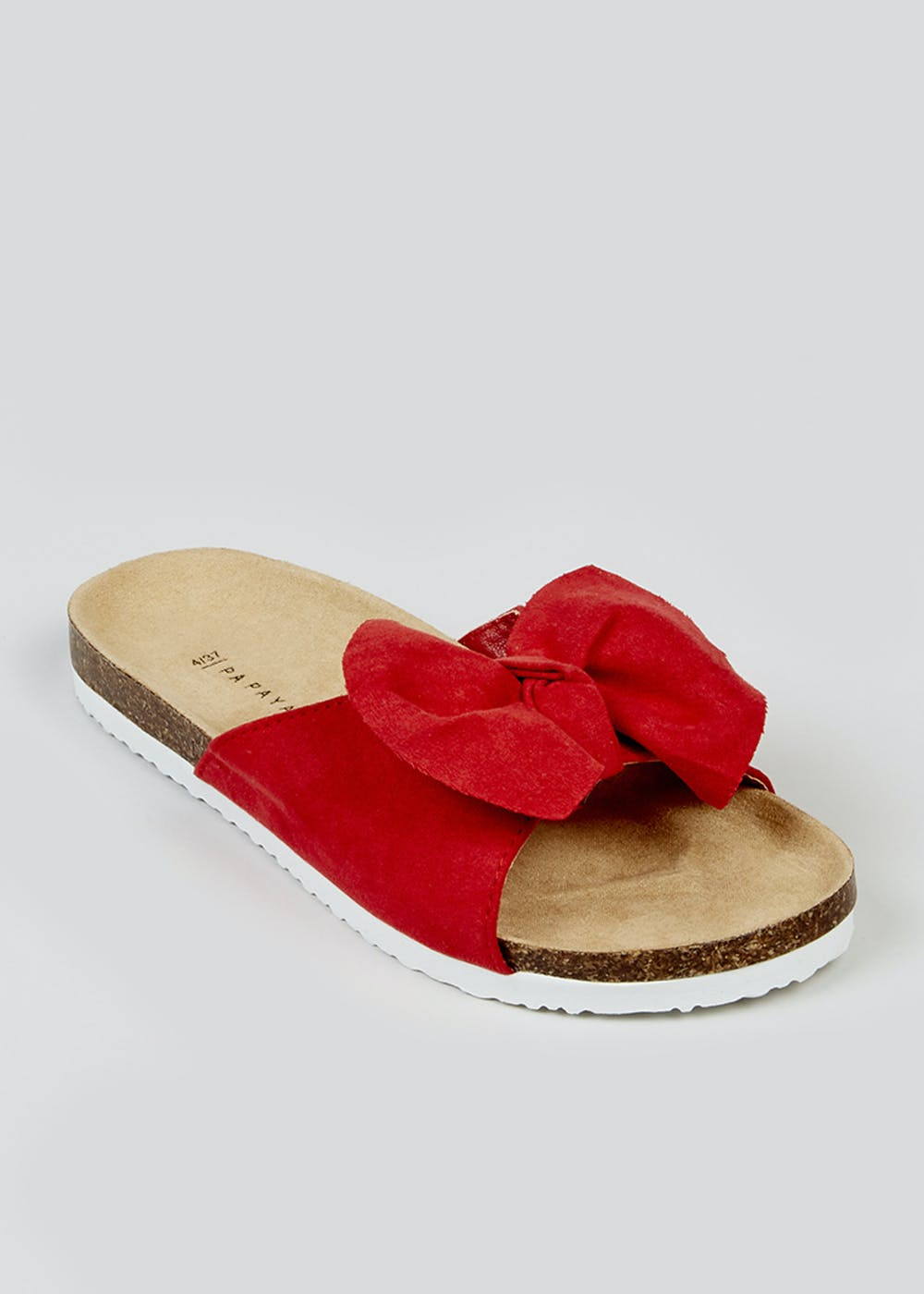 Red Bow Sandals – Red