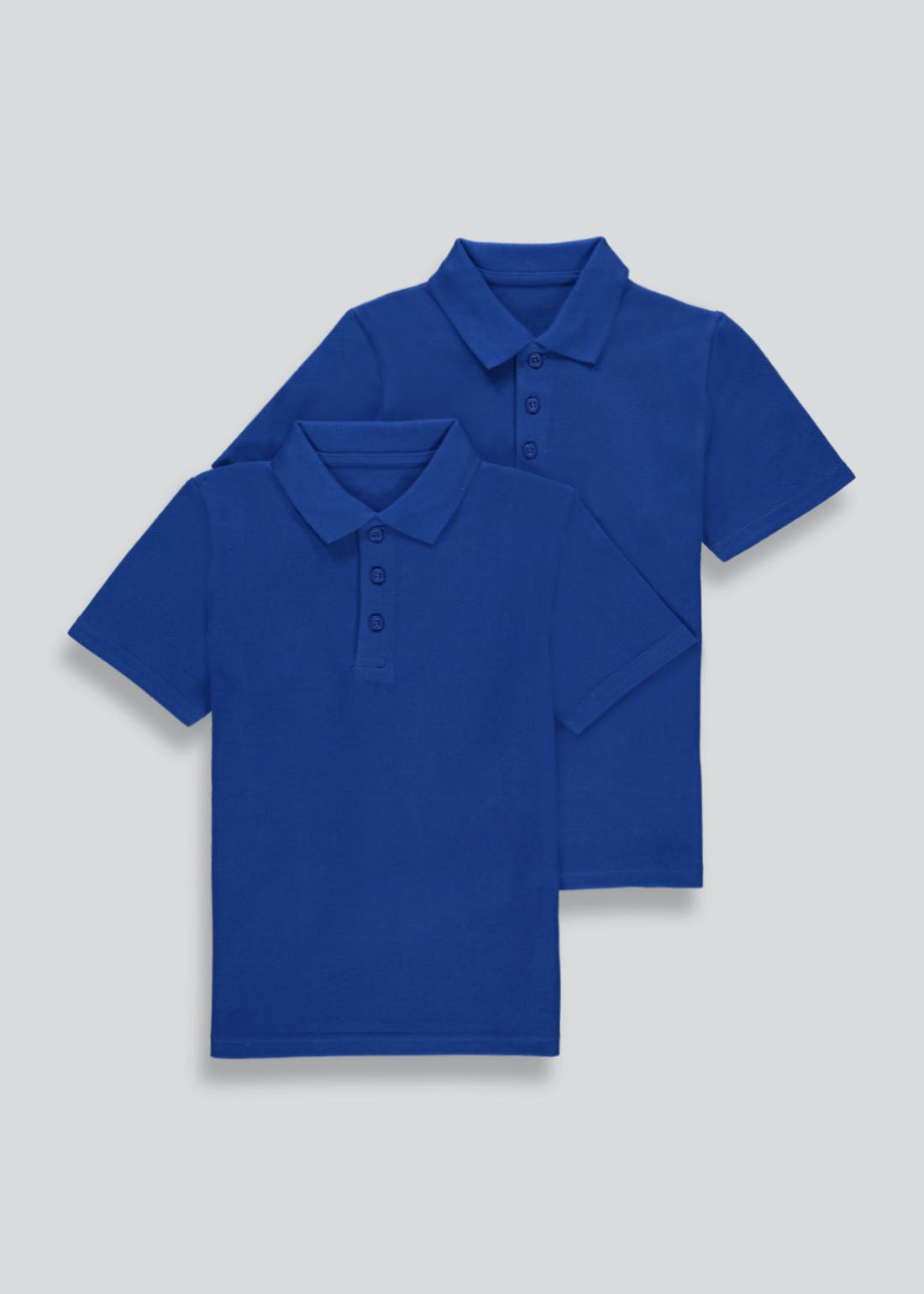 Kids 2 Pack Blue School Polo Shirts (3-13yrs)