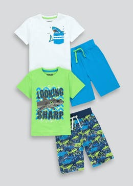 Boys 2 Pack Short Pyjamas (4-13yrs)