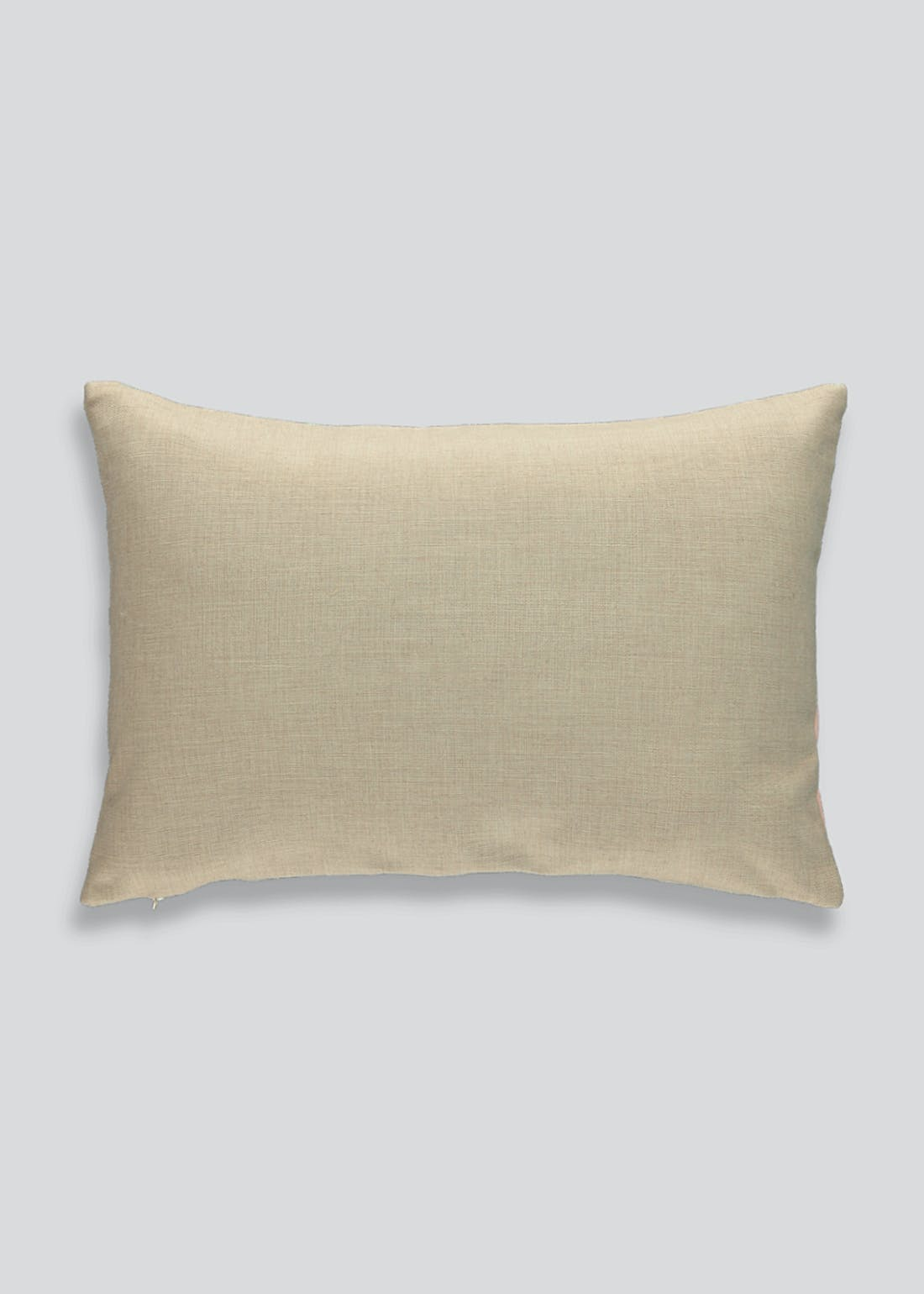 Faux Leather Colour Block Cushion (60cm x 40cm)