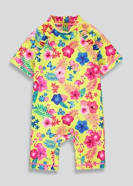 Girls Floral Surf Suit (3mths-6yrs)