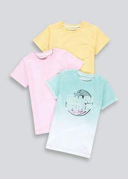 Boys 3 Pack Miami Surf T-Shirts (4-13yrs)