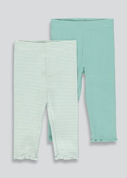 Girls 2 Pack Leggings (9mths-6yrs)