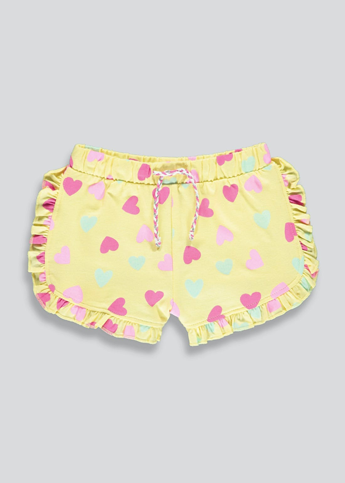 Girls Heart Print Jersey Shorts (9mths-6yrs)