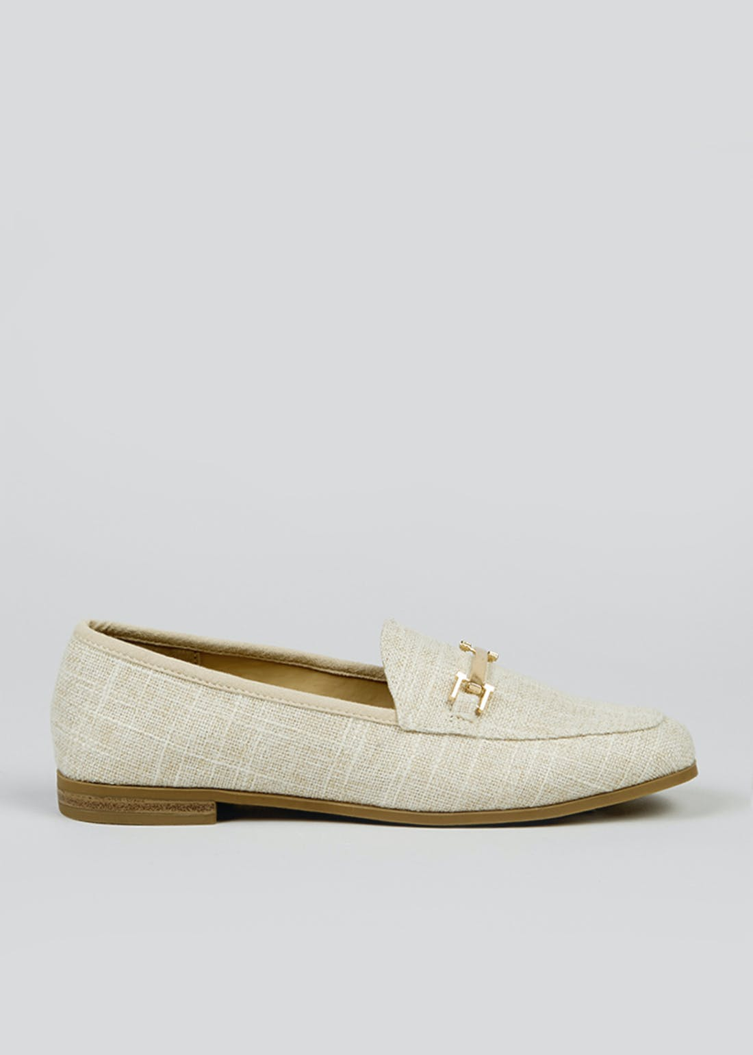 Cream Snaffle Loafers