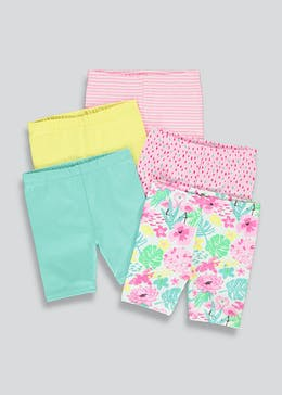 Girls 5 Pack Cycling Shorts (9mths-6yrs)