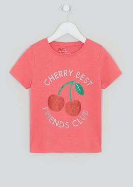 Girls Glitter Cherry T-Shirt (4-13yrs)
