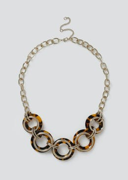 Tortoiseshell Circle Necklace