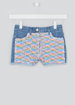 Girls Sequin Denim Shorts (4-13yrs)