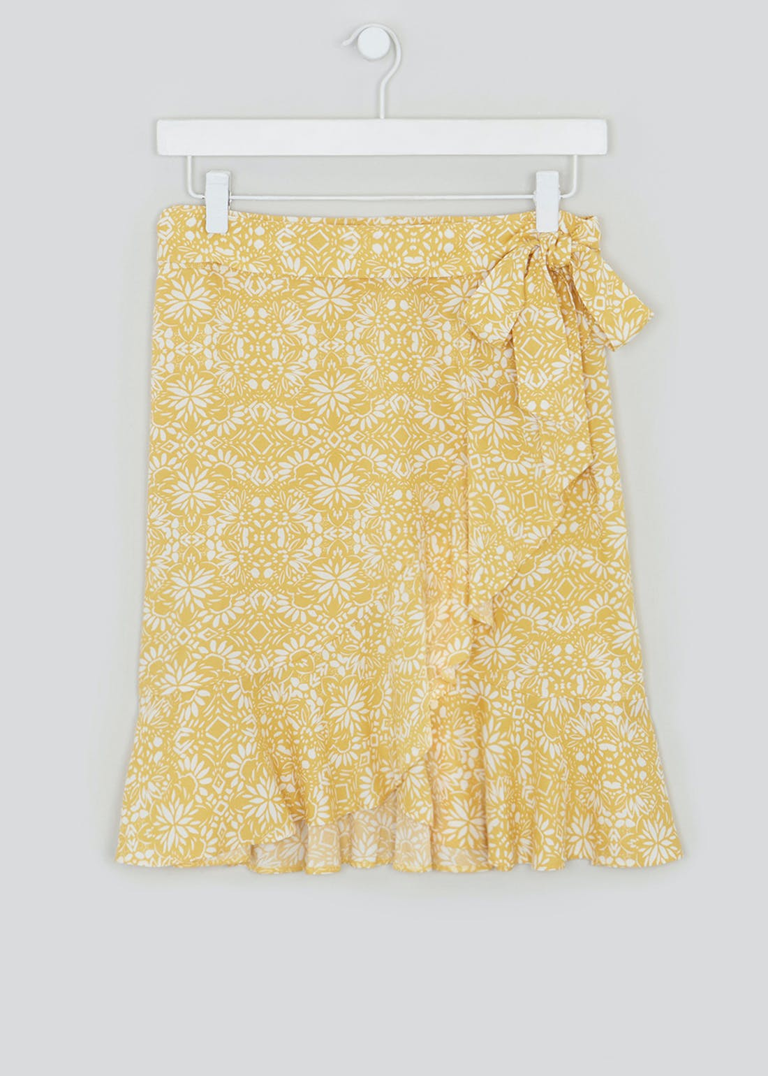 Belted Wrap Floral Mini Skirt