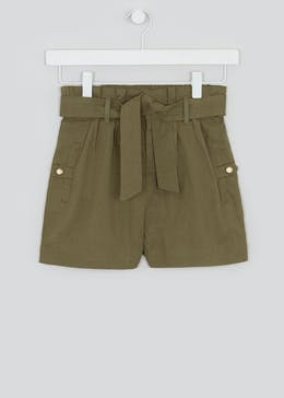Girls Candy Couture Linen Shorts (9-16yrs)
