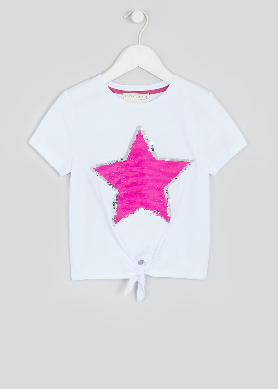 Girls Flippy Sequin Star T-Shirt (4-13yrs)