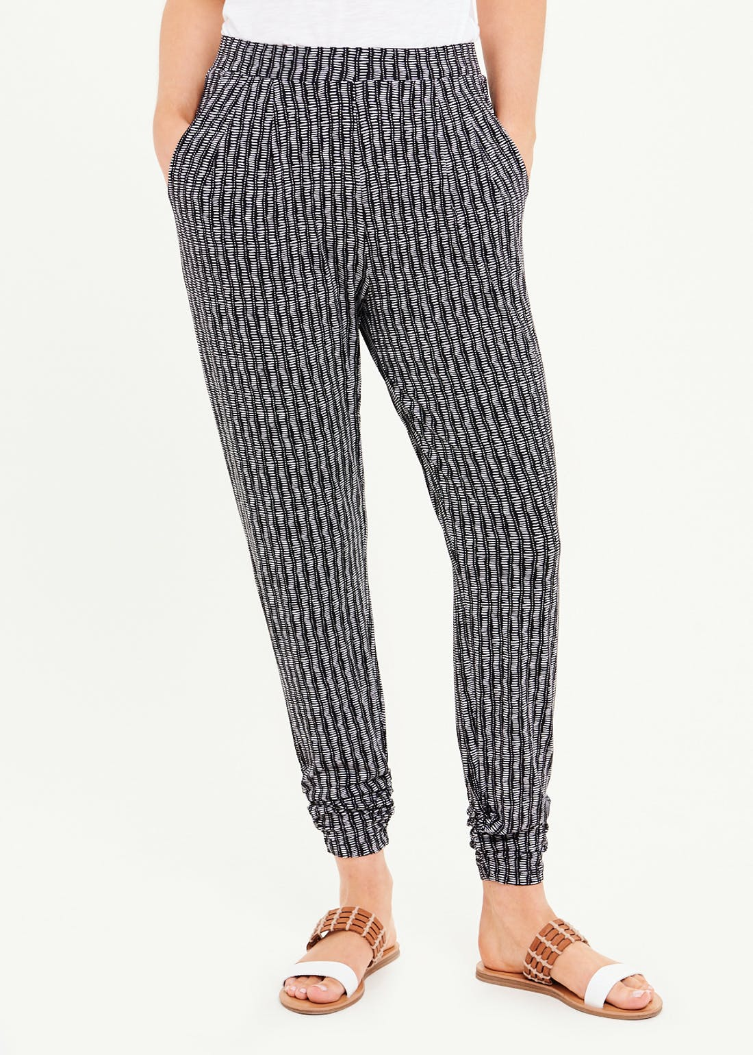 Abstract Dash Harem Trousers