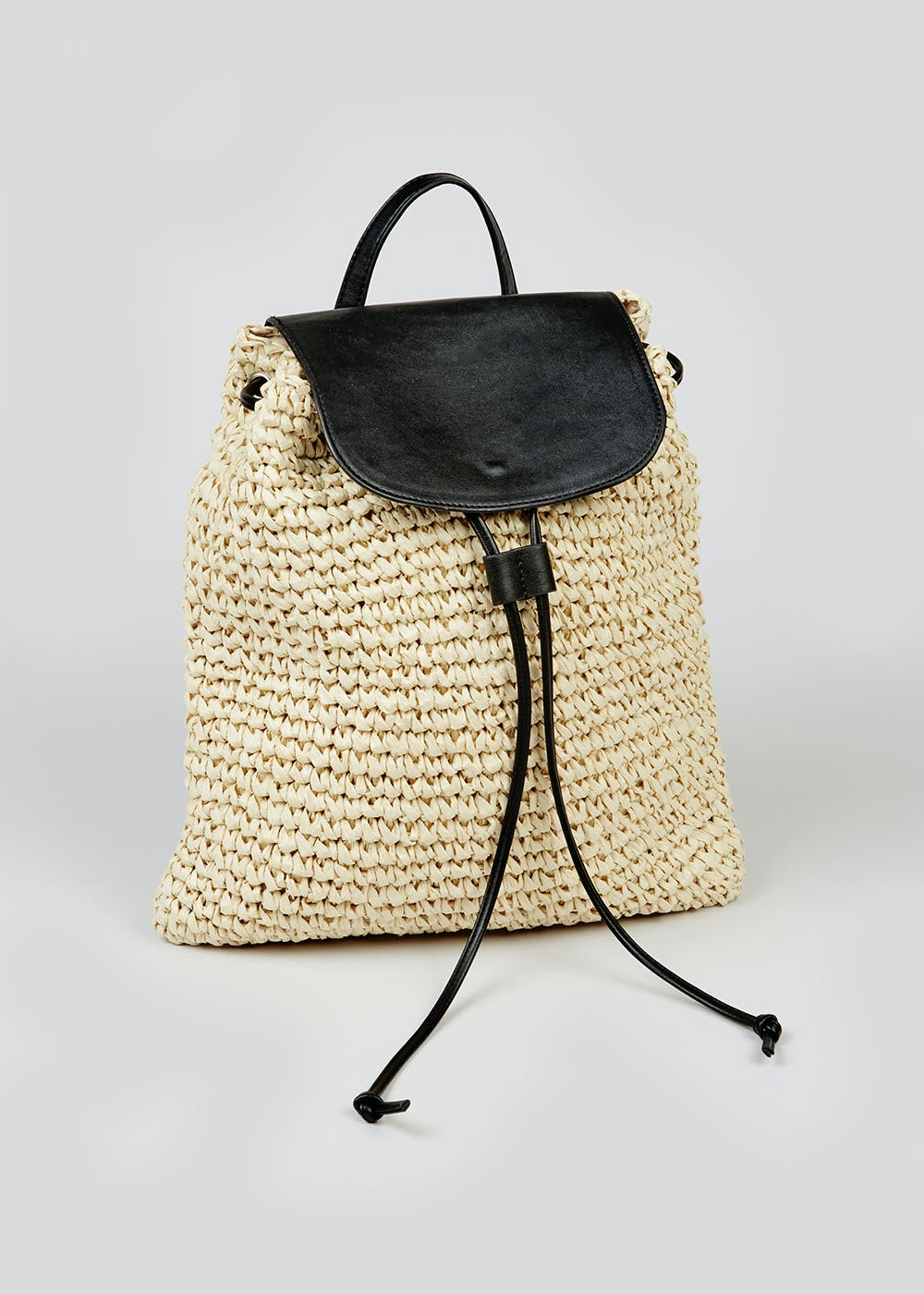 Straw Backpack – Natural