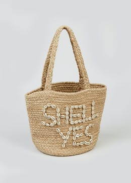 Shell Yes Straw Tote Bag